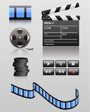 Media icons. Set of  media icons. These icons can be used in cinema sphere, music, sound etc Royalty Free Stock Photo