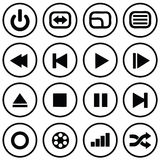 Media Icons. Set of various media icons Royalty Free Stock Image