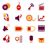 Media icons Stock Image