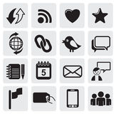Media icons Royalty Free Stock Image