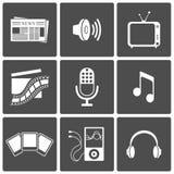 Media icons Royalty Free Stock Photos