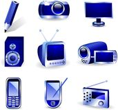 Media icons. Royalty Free Stock Photos