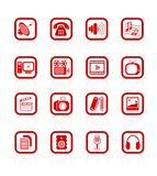 Media icons. Miscellaneous multimedia raster icons. Vector version is available in my portfolio Royalty Free Stock Image