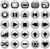 Media icons. Vector illustration of some media icons Stock Photo