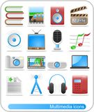 Media icons. Miscellaneous multimedia raster icons. Vector version is available in my portfolio stock illustration