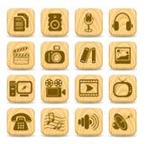 Media icons Stock Image