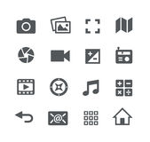 Media Icons Apps Interface. Vector icons for your web, mobile or printing projects Stock Image