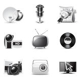 Media icons | B&W series Royalty Free Stock Image