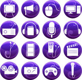 Media icons on buttons Royalty Free Stock Photo