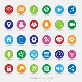Media Icons Coloured stock illustration