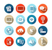 Media Icons Flat Design Stock Image