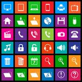 Media icons in Flat Metro Style Royalty Free Stock Photography