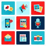 Media icons flat Royalty Free Stock Photography