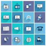 Media icons flat set Royalty Free Stock Photography