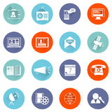 Media icons flat set Stock Photography
