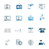 Media icons flat set Stock Photos