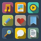 Media icons pack Royalty Free Stock Photo