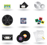 Media Icons Set. Icons Set of Different Media Formats And Types Royalty Free Stock Image
