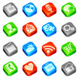Media icons. Set of 16 media icons vector illustration