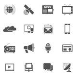 Media Icons Set Stock Image