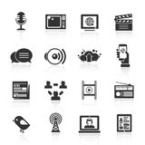 Media Icons Set Royalty Free Stock Image