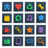 Media icons Stock Photo