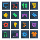 Media icons set 2 Stock Photos