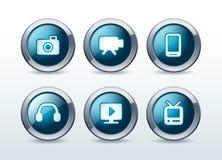 Media icons set  illustration Stock Photo