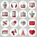 Media icons set Royalty Free Stock Photography