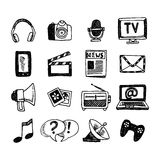 Media Icons Set Stock Photography