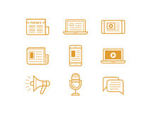Media icons set Royalty Free Stock Photo