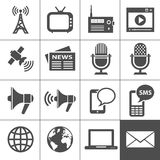 Media icons set - Simplus series royalty free illustration
