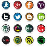 Social Media Icons Vectors. royalty free illustration