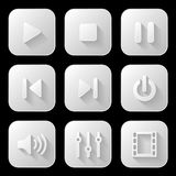 Media icons set Stock Image