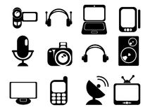 Media icons set. Vector Media symbol for web icons in eps 8 Stock Photography