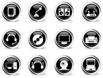 Media icons set. Media vector icons for web sites and user interface Royalty Free Stock Photo