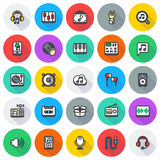 Media icons set on white background. Created For Mobile, Web, Decor, Print Products, Applications. Icon . Vector illustration Royalty Free Stock Photography