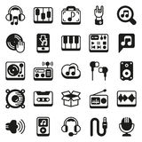 Media icons set on white background. Created For Mobile, Web, Decor, Print Products, Applications. Icon . Vector illustration Royalty Free Stock Photos