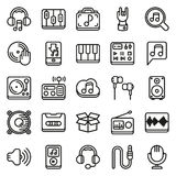 Media icons set on white background. Created For Mobile, Web, Decor, Print Products, Applications. Icon . Vector illustration Royalty Free Stock Images
