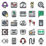 Media icons set on white background. Created For Mobile, Web, Decor, Print Products, Applications. Icon . Vector illustration Royalty Free Illustration