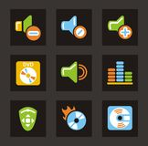 Media Icons - Sound Royalty Free Stock Photos