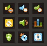 Media Icons - Sound royalty free stock photos