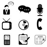 Media icons and symbols Stock Photography