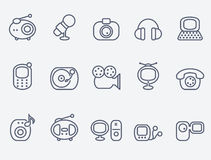 Media icons Royalty Free Stock Images