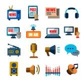 Media icons Stock Photography