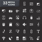 33 media icons Royalty Free Stock Photography
