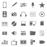 Media icons on white background Royalty Free Stock Photo
