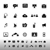 Media icons on white background Stock Photography