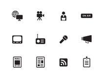 Media icons on white background. Vector illustration stock illustration