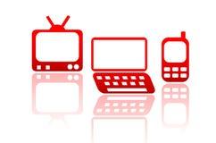 Media-Ikonen Stockbilder